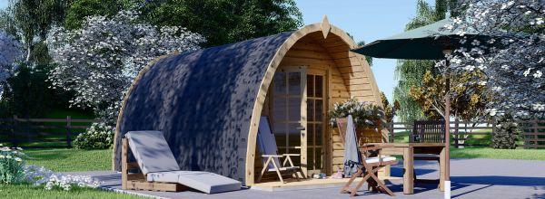 Caseta de jardín de madera BRETA (28 mm), 3x5 m, 15 m²