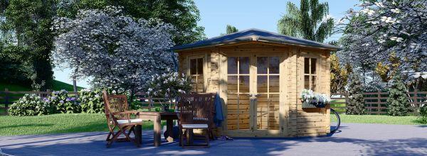 Caseta de jardín de madera AIDA (28 mm), 3x3 m, 9 m²