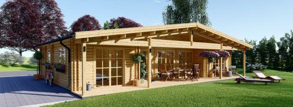 Casa de madera RIVIERA (66 mm), 120 m²