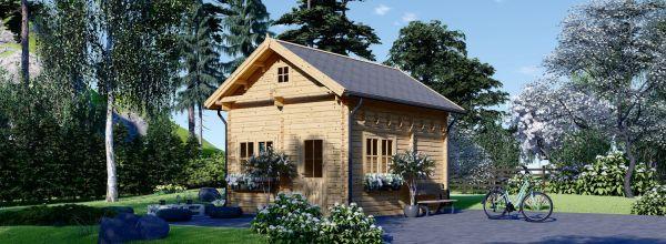 Casa de madera de dos plantas AVIGNON (44 mm), 20 m²