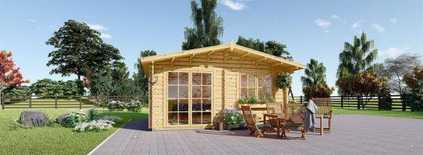 Caseta de madera para jardín WISSOUS (44 mm), 5x4 m, 20 m²