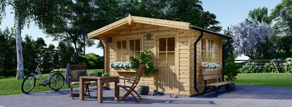 Caseta de jardín de madera DREUX (44 mm), 4x3 m, 12 m²