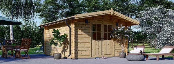 Caseta de jardín de madera PALMA (34 mm), 4x4 m, 16 m²
