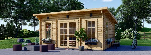 Caseta de jardín de madera ESSEX (Aislada, 44+44 mm), 5x4 m, 20 m²