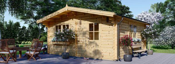 Caseta de jardín de madera DREUX (Aislada, 44+44 mm), 6x6 m, 36 m²
