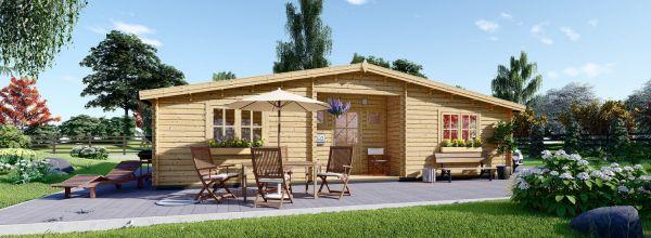Casa de madera FILL (44 mm), 60 m²