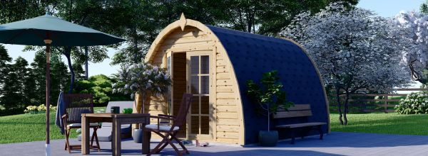 Caseta de jardín de madera BRETA (28 mm), 3x4 m, 12 m²