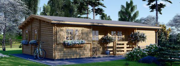 Casa de madera UZES (Aislada, 44+44 mm), 70 m²
