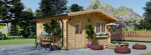 Caseta de jardín de madera NINA (44 mm), 6x6 m, 36 m²