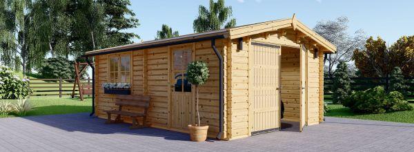 Garaje de madera (44 mm), 4x6 m, 24 m²