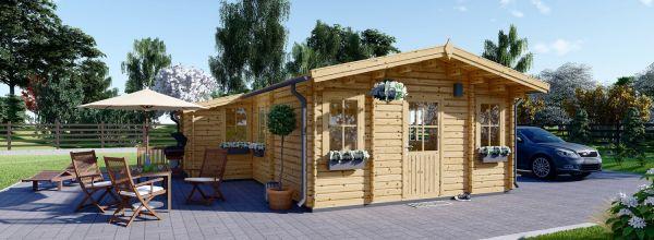 Casa de madera DIJON 44 mm, 43 m²
