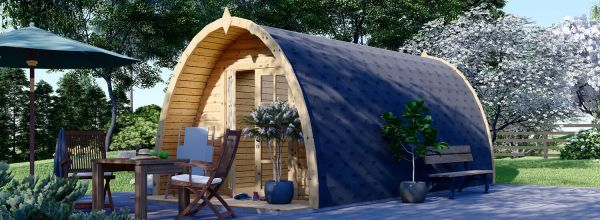 Caseta de jardín de madera BRETA (28 mm), 3x6 m, 18 m²