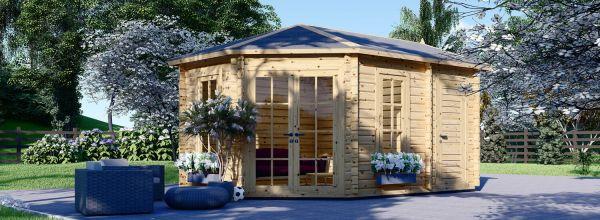 Caseta de madera para jardín KIM (44 mm), 5x3 m, 15 m²