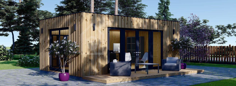 Oficina prefabricada para jardín PREMIUM (Aislada, paneles SIP), 7x4 m, 28 m² visualization 1