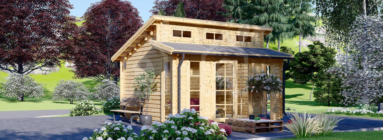 Caseta de jardín ALABAMA 20 m² (4,5x4,5) 44 mm visualization 1