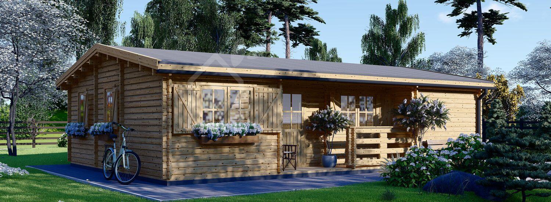 Casa de madera UZES (66 mm), 70 m² visualization 1