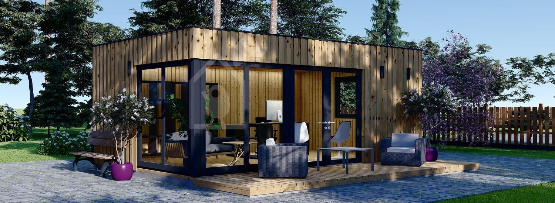 Oficina prefabricada para jardín PREMIUM (Aislada, paneles SIP), 6x4 m, 24 m² visualization 1
