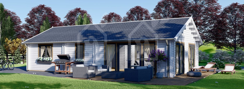 Casa de madera para vivir ANICA (Aislada PLUS, 44+44 mm), 71 m² visualization 1