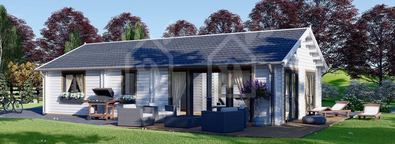 Casa de madera ANICA (44+44 mm), 71 m² visualization 1