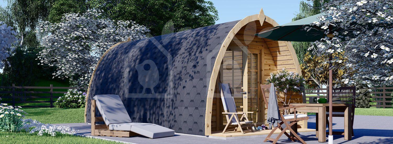 Caseta de jardin BRETA (28 mm), 3x6 m, 18 m² visualization 2