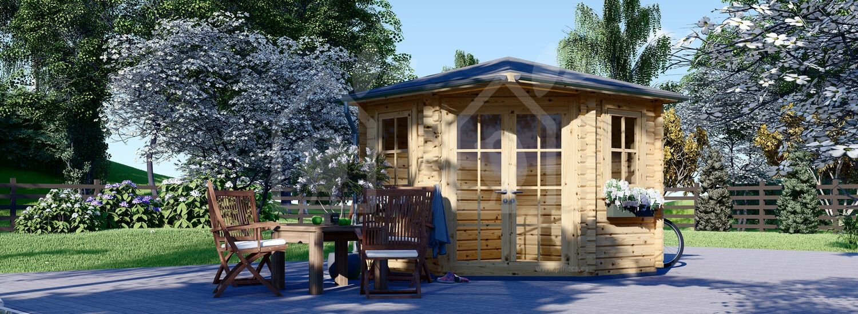 Caseta de jardín de madera AIDA (28 mm), 3x3 m, 9 m² visualization 1