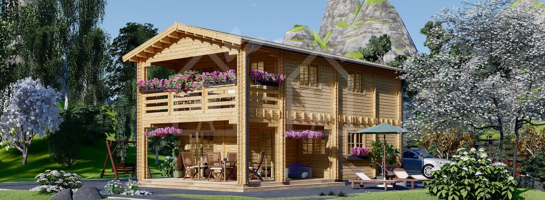 Casa de madera TOULOUSE (66 mm), 100 m² visualization 1