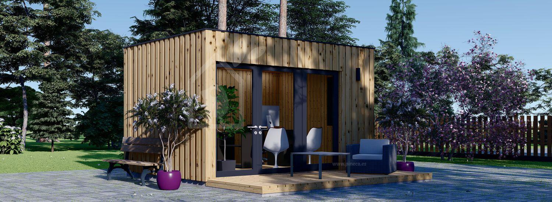 Oficina prefabricada de madera PREMIUM (Aislada, peneles SIP), 4.1x2.4 m, 10 m² visualization 1