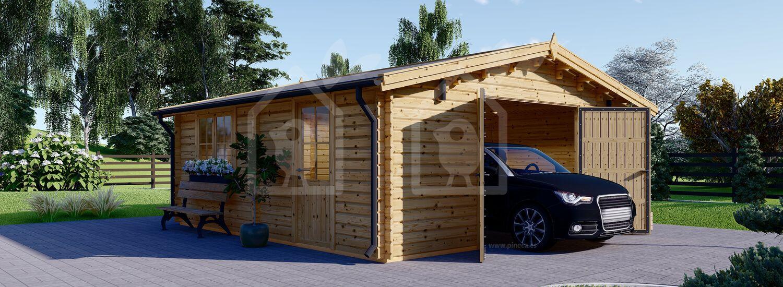Garaje de madera (44 mm), 6x6 m, 36 m² visualization 1