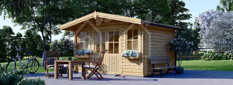 Caseta de jardín de madera OLYMP (44 mm), 4x3 m, 12 m² visualization 1