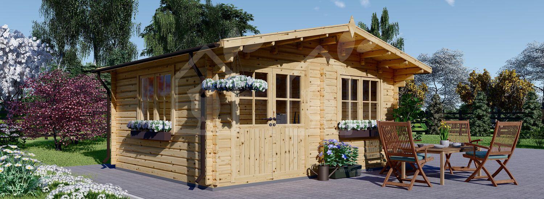 Cabaña de madera para jardín LILLE 25 m² (34 mm), 5x5 m, 25 m² visualization 1
