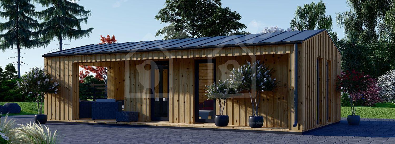 La casa ANNA Scandinavia 44 mm + revestimiento 20 mm, 37 m² visualization 3