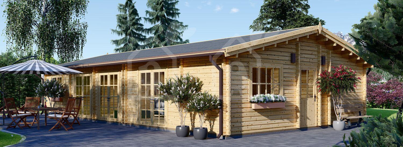 Casa de madera JULIA (66 mm), 103 m² visualization 1