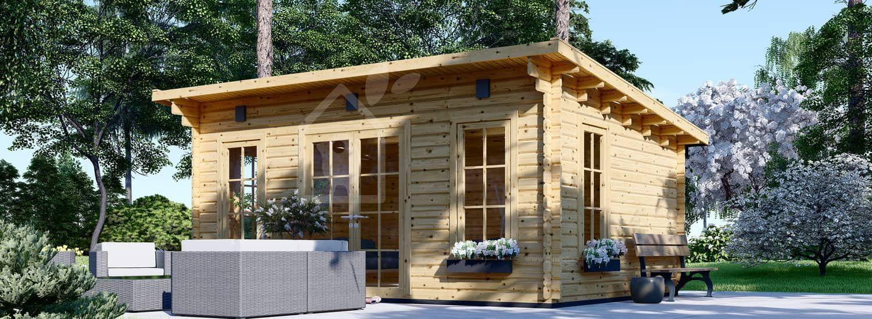 Caseta de jardín de madera ESSEX (44 mm), 5x4 m, 20 m² visualization 1