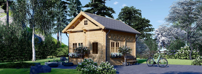 Casa de madera de dos plantas AVIGNON (44 mm), 20 m² visualization 1