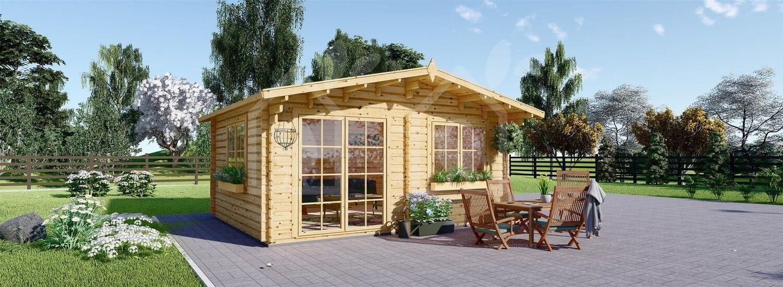 Caseta de jardín WISSOUS 19.9 m² (5x4) 34 mm visualization 3