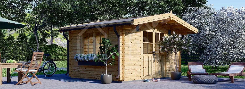 Caseta de jardín de madera RENNES (34 mm), 4x3 m, 12 m² visualization 1