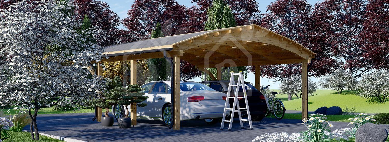 Cochera de madera double BETSY DUO, 6.15x6 m, 36.9 m² visualization 4