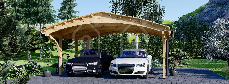 Cochera de madera double BETSY DUO, 6.15x6 m, 36.9 m² visualization 7