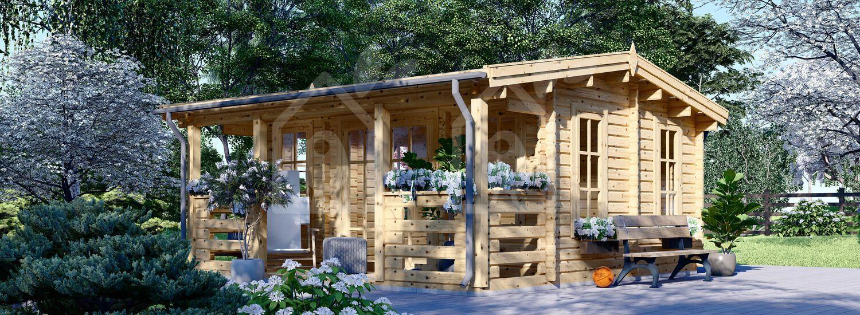 Caseta de jardín de madera ROYAL (44 mm), 5x5 m, 25 m² visualization 1