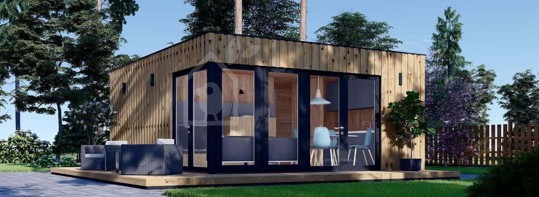 Casa de jardín PREMIUM (Aislada, peneles SIP), 6x5 m, 30 m² visualization 1