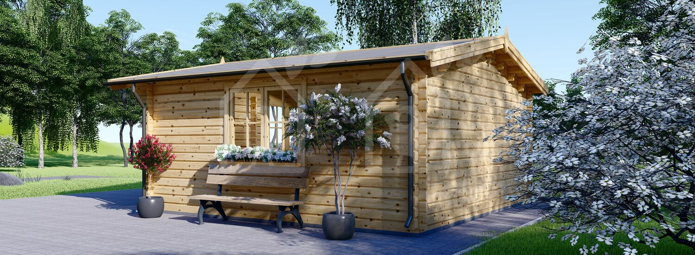 Caseta de jardin DREUX 25 m² (5x5) 44 mm visualization 3