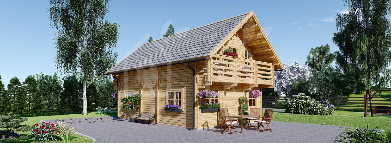 Casa de madera LANGON (66 mm), 95 m² visualization 1