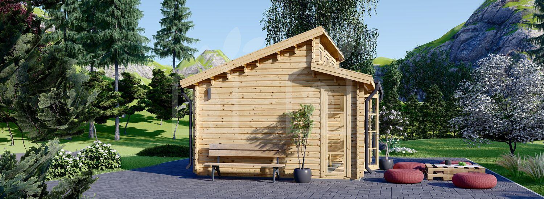 Caseta de jardín ALABAMA 20 m² (4,5x4,5) 44 mm visualization 5