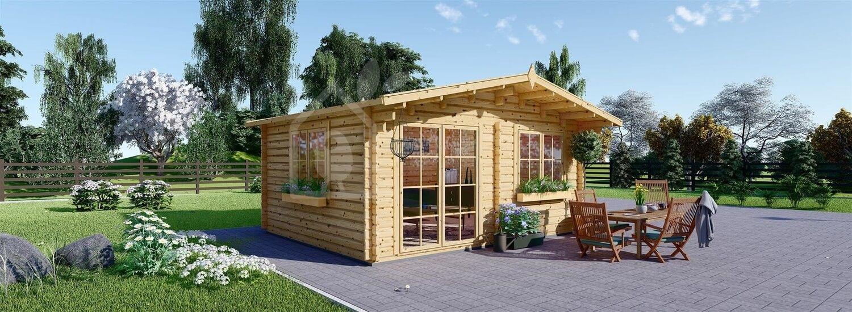 Caseta de jardín de madera WISSOUS (44 mm), 5x6 m, 30 m² visualization 1