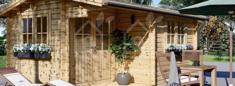 Caseta de jardín OSLO 19.5 m² 34 mm visualization 7