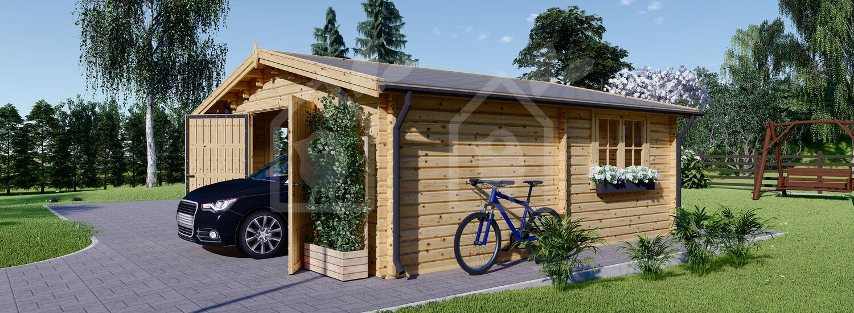 Garaje de madera 600x600 44 mm, 36 m² visualization 4