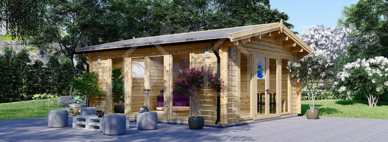 Caseta de madera para jardín MIA (44+44 mm), 5.5x5.5 m, 30 m² visualization 1