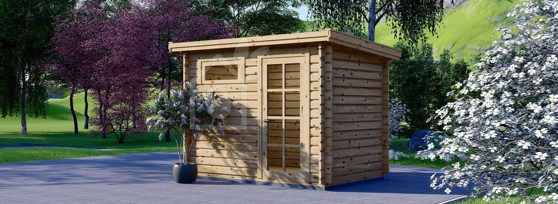 Caseta de jardín de madera MODERN (28 mm), 3x2 m, 6 m² visualization 1
