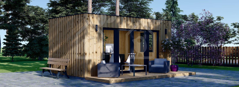 Oficina prefabricada de madera PREMIUM (Aislada, peneles SIP), 6x3 m, 18 m² visualization 1