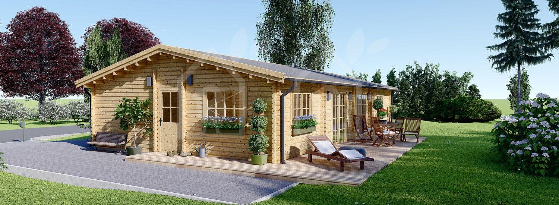 Casa de madera LIMOGES (66 mm), 103 m² visualization 1
